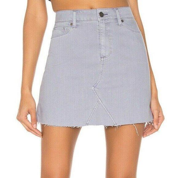 PAIGE Dresses & Skirts - Paige x Revolve Denim Skirt Aiden Mini Jean Frayed
